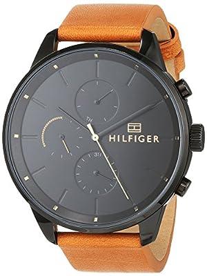 Tommy Hilfiger Reloj Multiesfera para Hombre de Cuarzo con Correa en Cuero 1791486