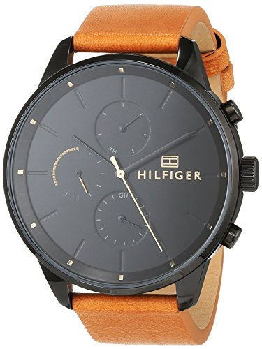 Tommy Hilfiger Reloj Multiesfera para Hombre de Cuarzo con Correa en Cuero  1791486 ... fe734851ccc2