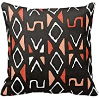 fengxutongxue SJFY Orange African Mudcloth Print Throw Pillowcase 18x18
