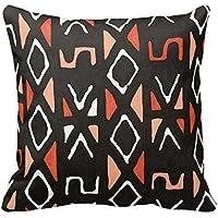 fengxutongxue SJFY Orange African Mudcloth Print Throw Pillowcase 18x18