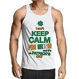 lepni.me Singlete Je Ne Peux Pas Garder le Calme - Je Suis Irlandais - St. Paddy Day Clothing (Small Blanc Multicolore)