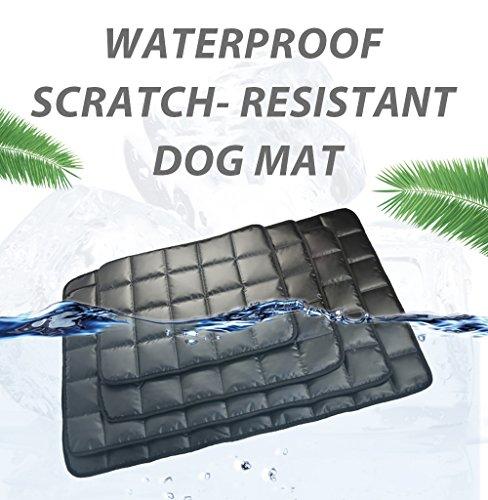 furrybaby indestructible Oxford tissu imperméable chien tapis antidérapant à haute densité pour animaux de compagnie tapis coussin extérieur Voyage Chien Refroidissement tapis pour chien et chats 48x60cm noir