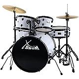 """XDrum Rookie 22"""" Fusion Schlagzeug Komplettset White & inkl. Schule + DVD"""