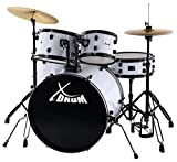 "XDrum Rookie 22"" Fusion Schlagzeug Komplettset White & inkl. Schule"