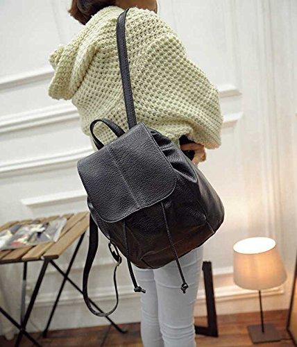 SAMGU Retro Spalla Sacchetto di Scuola Zaino Donne Borsa Schoolbags zaino colore nero nero