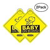 COOODI Auto-Sticker Auto-Aufkleber Kinder Baby On Board, 4.72 X 4.72 inch, 2 pack