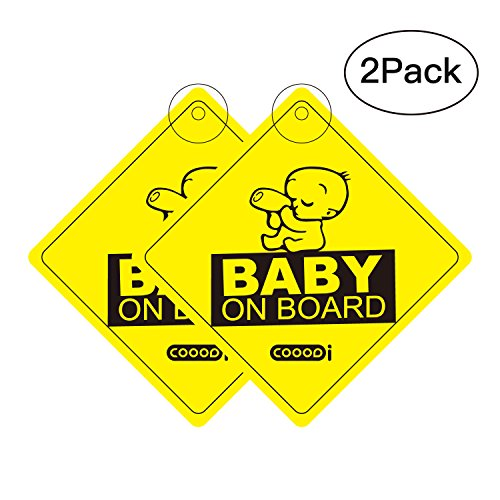 COOODI Auto-Sticker Auto-Aufkleber Kinder Baby On Board, 4.72 X 4.72 inch, 2 pack