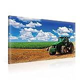 Feld Traktor Natur Leinwand Bilder (PP1515O1FW) - Wallsticker Warehouse - Size O1 - 100cm x 75cm - 230g/m2 Canvas - 1 Piece