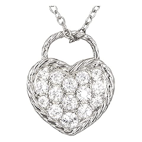Necklace with Heart-shaped pendant - 925 Silver Jewel
