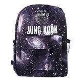Kingmia BTS Bangtan Boys Rucksack Daypack 3D Digital Gedruckt Leinwand Schulter Rucksack Laptop Notebook Rucksack Verursacht Handtasche für Die Reise Schule (H06)