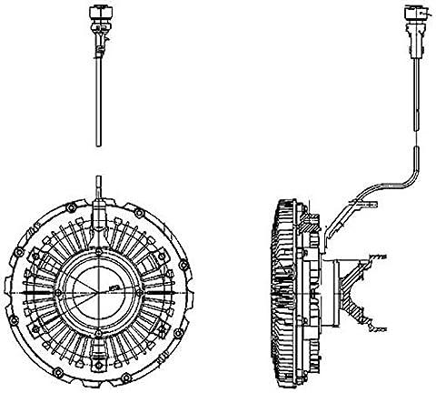 Hella 8MV 376 757-121 Clutch, Cooling Fan