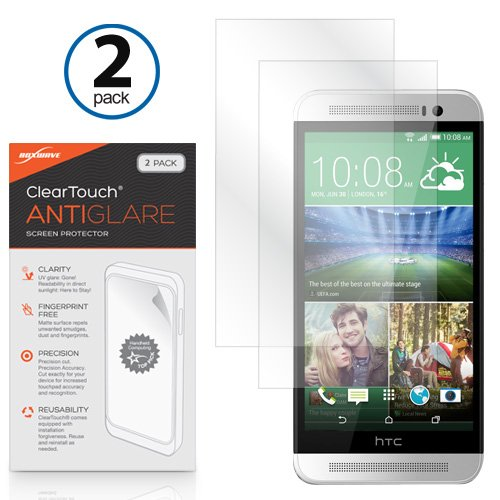 HTC One (E8) Bildschirmschutzfolie, BoxWave® [ClearTouch AntiGlare (2er Pack)] Anti-Fingerprint Matt Folie Skin für HTC One (E8)