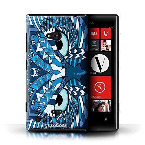 Kobalt® Imprimé Etui / Coque pour Nokia Lumia 720 / Hibou-Mono conception / Série Motif Animaux Aztec Hibou-Bleu