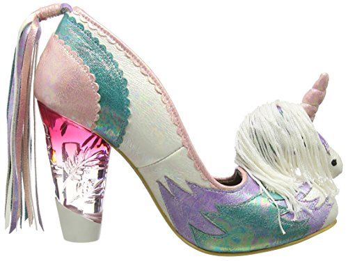 Irregular Choice - Dreamkiss, Scarpe col tacco Donna Multicolore (Multicolor (White Multi))