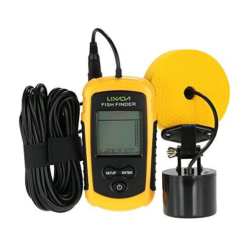 Lixada 100M Ecoscandaglio sonar rilevatore portatile...