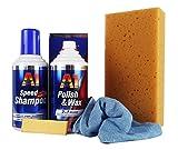 DR. WACK A1 Polish & Wax 250 ml & Speed Shampoo 500ml & Mikrofasertuch & Schwamm