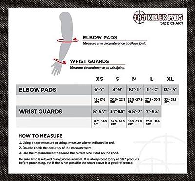 187 Killer Pads Unisex Elbowpads Schutzausrüstung, Schwarz, S, 11.11.EBP.03-02