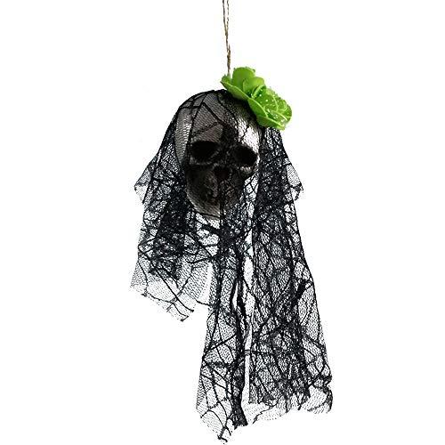 Kostüm Renaissance Themen - Allegorly Halloween deko, DIY Halloween-Thema Creative Halloween Dekoration Anhänger Bar Atmosphäre Arrangement Papier Dekoration beängstigend Schädel Kopf