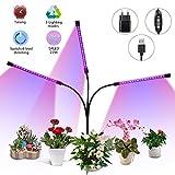 Elfeland LED Pflanzenlampe 27W Pflanzenlicht Pflanzenleuchte mit Timing-Funktion