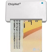 ChipNet iBOX Plus OSX - Lector de DNI para MAC y tarjetas inteligentes, color blanco