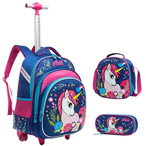 Mochila Escolar Trolley niña Unicornio