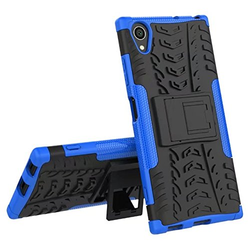 YHUISEN Sony XA1 Plus case, Hyun Muster Dual Layer Hybrid Armor Ständer 2 in 1 stoßfestem Case Cover für Sony Xperia XA1 Plus (5,5 Zoll) ( Color : Blue ) Blue