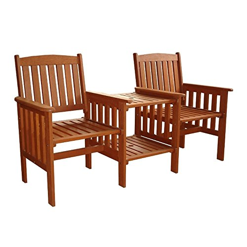 JAKARTA SOLID HARDWOOD JACK AND JILL LOVE SEAT COMPANION SET