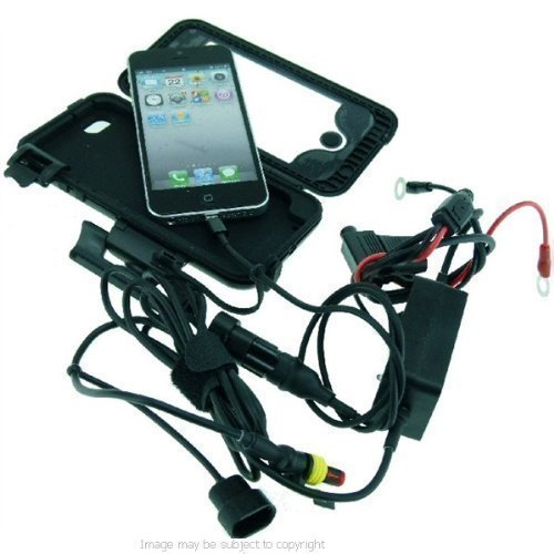 'Easy Fit' Wasserdichte Robuste Schutzhülle zur direkten Montage am Motorrad für Apple iPhone 5, - Iphone-add-on-linsen