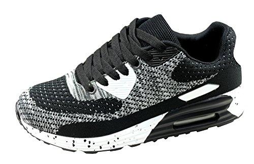 gibra Herren Sneaker Sportschuhe, Art. 0237, Sehr Leicht und Bequem, Schwarz/Grau/Weiß, Gr. 41-46 schwarz/grau/weiß