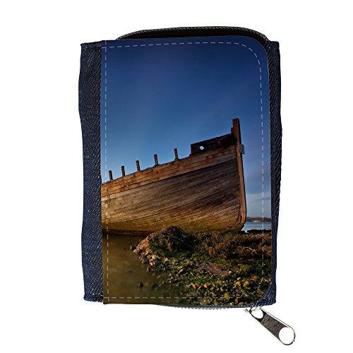 Portemonnaie Geldbörse Brieftasche // F00025167 Holzboot auf seine Knochen // Purse Wallet (Knochen Wallet)