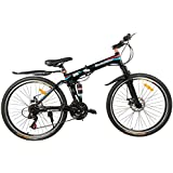 Gogo A1 Rockefeller 26 Inch Light Weight Foldable / Folding Mountain Bike / Bicycle With Double Disc Brake Dual Suspension