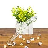 Loveusexy Kristall Glasdildo 23 cm lang 3 cm dick, mundgeblasener Dildo Glass Anal Plug Butt Plug