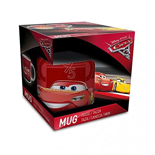 Lot de 2 Tasse Mug Cars 3 Disney Pixar - Modèle Aléatoire - Flash Mc Queen Cadeau Anniversaire Garcon Voiture - 463
