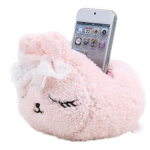 niceEshop(TM) Support pour Téléphone Portable Ou Télécommande (Lapin Rose)