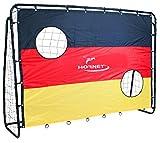 Hudora 76917 Hornet Fußballtor Match D mit Torwand 213 x 152 x 76 cm