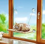 Bild: UPP Products KatzenFensterplatz inkl Gratis Happy Cat Futterprobe  Katzenbett Schlafplatz Katzenmatte  Hängematte