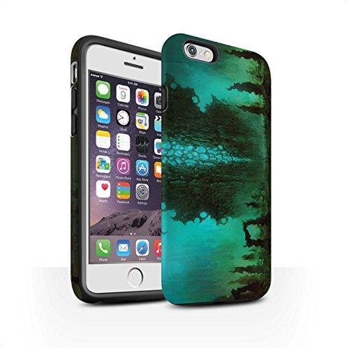 Offiziell Chris Cold Hülle / Matte Harten Stoßfest Case für Apple iPhone 6 / Pack 12pcs Muster / Fremden Welt Kosmos Kollektion Alien Landschaft