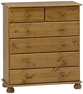Steens 3022130034000F Richmond 4+2 Pine Chest of Drawers Brown