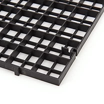 Wetrys 6 Pcs Grid Isolate Board Divider Fish Tank Bottom Black Filter Tray Aquarium Crate 5