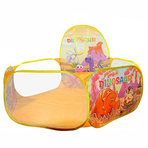 FAMILIZO Pop Up Hexágono del lunar de los niños jugar a la pelota piscina Carpa Llevar un totalizador del juguete (Amarillo)