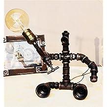 Tischleuchte Retro Industrielle Weinlese Schreibtisch Lampen Eisen Wasser Rohr Justierbare