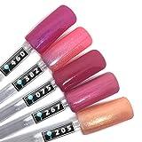 Color Gel 5er Set (je 5ml): Himbeereis Rosa - Kollektion - Gel Rosa, Gel Pink, Gel Rot