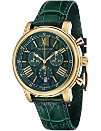 Thomas Earnshaw Longcase 43 Men's Quartz Watch with Green Dial Analogue Display with Green Leather Strap ES-0016-09