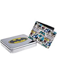 Unisex-adults DC Comics Batman & Robin Wallet with Embossed Tin (Multicoloured)
