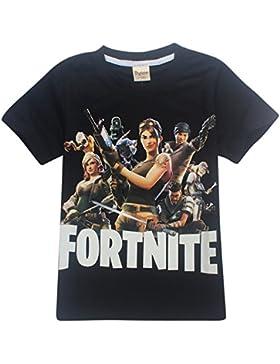 SERAPHY Camiseta de Manga Corta de Algodón Fortnite Camisetas Niños Maravillosos Regalos para Niños