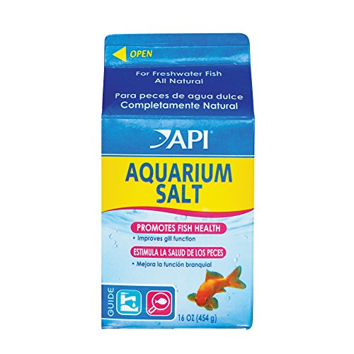 API Aquarium-Salz, zur Unterstützung der Hygiene und Gesundheit der Fische, für Aquarium, Aquarium-Salz, Packungsgröße: Small, 453,44g (Fisch Salz)