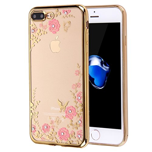 BING Für iPhone 7 Plus Blumen Muster Galvanisieren Soft TPU Schutzhülle Fall BING ( SKU : Ip7p5910d ) Ip7p5910c