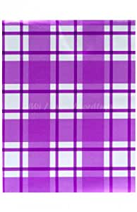 Heku violet/blanc 160 nappe rectangulaire 140 x 100 cm (wH16)