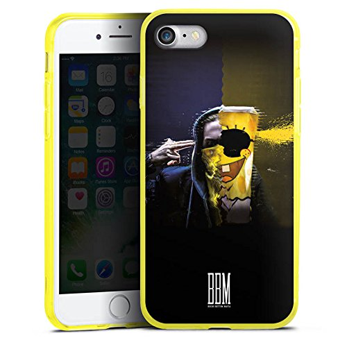 Apple iPhone 8 Silikon Hülle Case Schutzhülle Spongebozz Fanartikel Merchandise Sun Diego Silikon Colour Case gelb