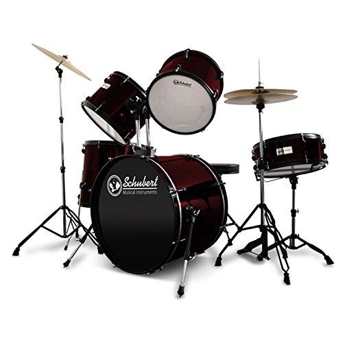 Schubert Schlagzeug 7-Teiliges Drumkit weinrot